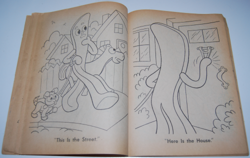 Gumby & pokey coloring book whitman 5