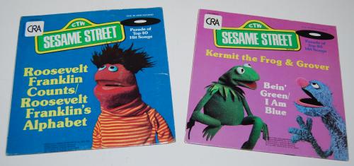 Vintage sesame street vinyl records