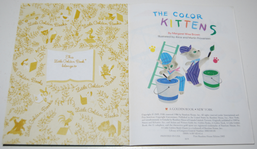 Little golden book the color kittens 3