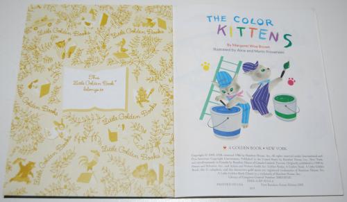 Little golden book the color kittens 3