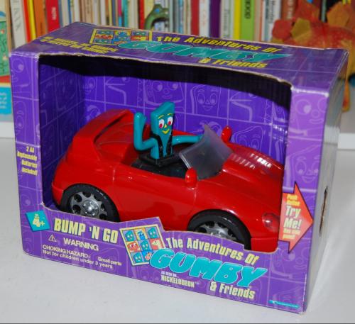 Gumby bump'n go car