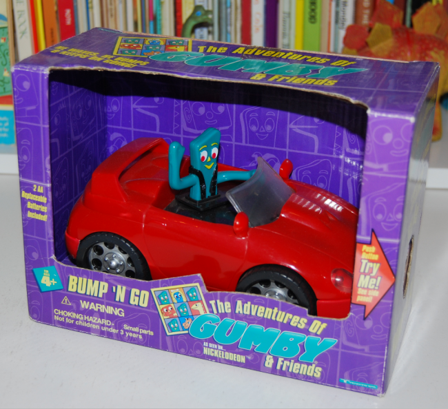gumby bump'n go car