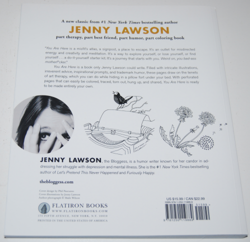 Jenny lawson you are here coloring book x