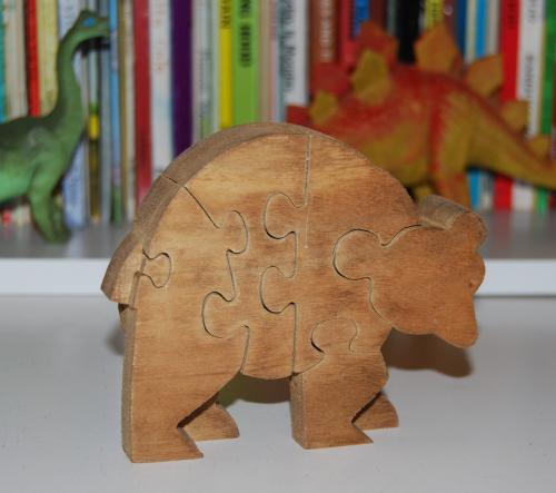 Vintage wooden bear puzzle 3