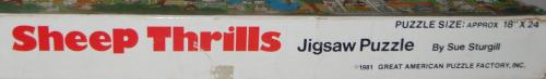 Sheep thrills puzzle 1981