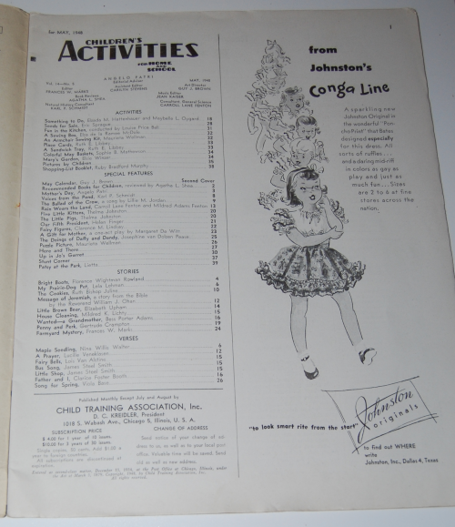 Children's activities magazine may 1948 1
