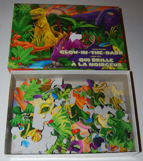 Puzzles glow in the dark dinosaurs