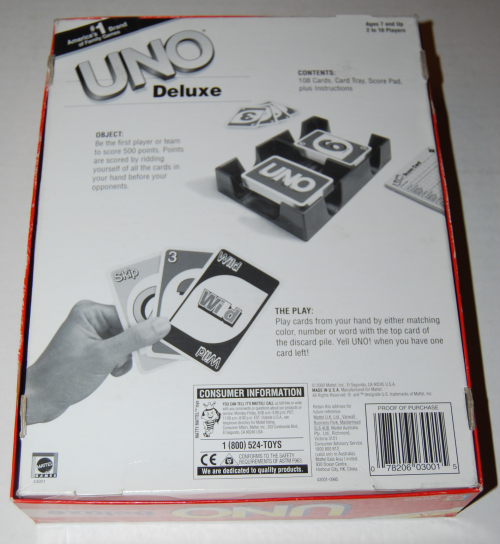 Uno deluxe game x