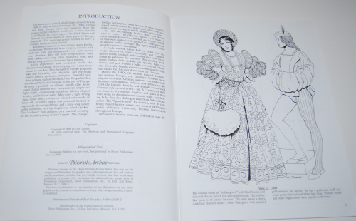 Dover renaisance fashion coloring book 1