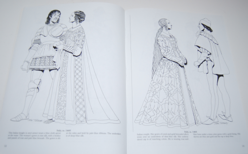 Dover renaisance fashion coloring book 3