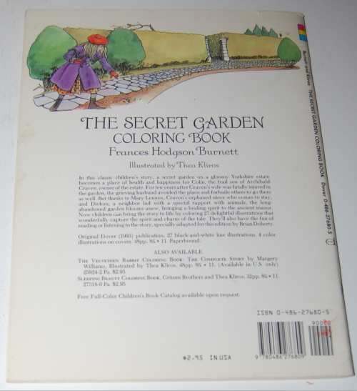 Dover secret garden coloring book x