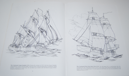 Dover american sailing ships coloring book 4