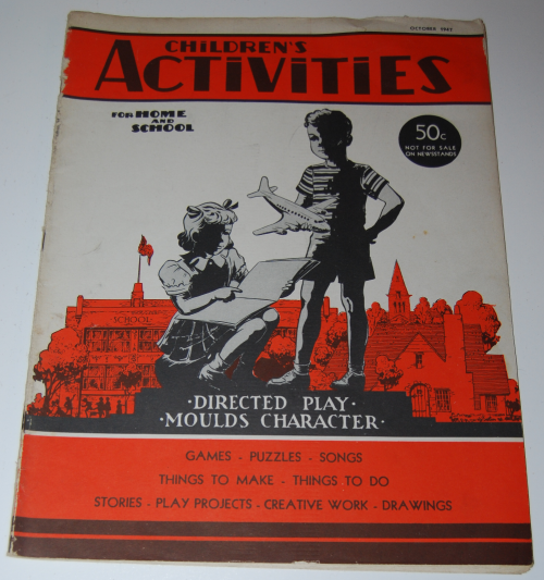 Children's activities magazine october 1947