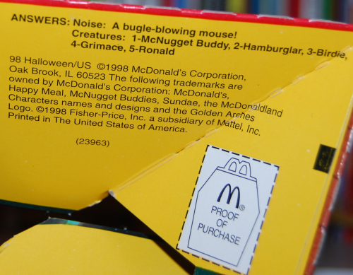 Ronald mcdonald wacky adventures vhs happy meal 5