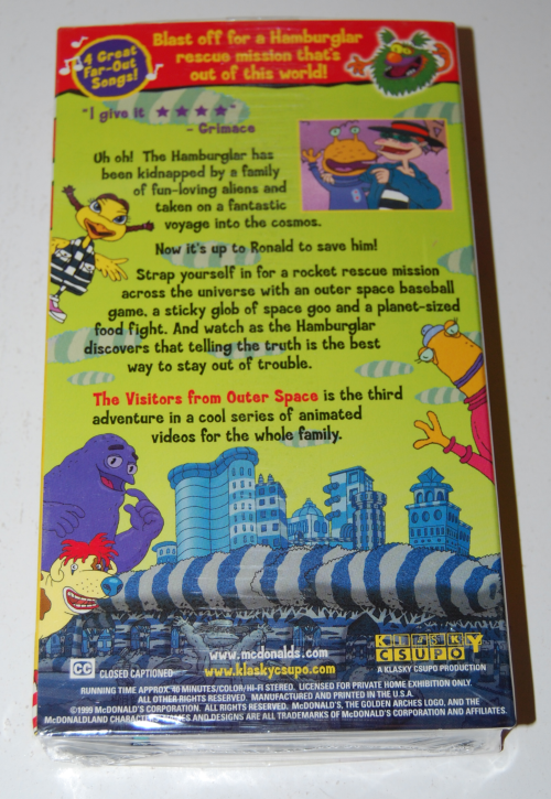 Ronald mcdonald wacky adventures vhs happy meal 2
