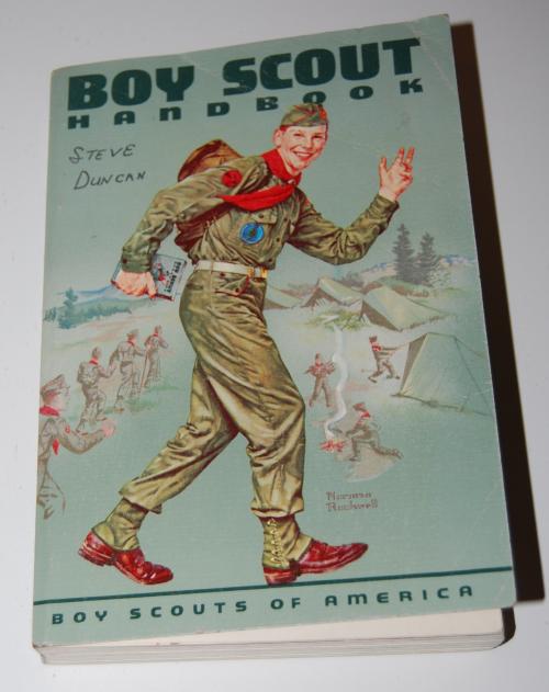 Vintage boy scout handbook