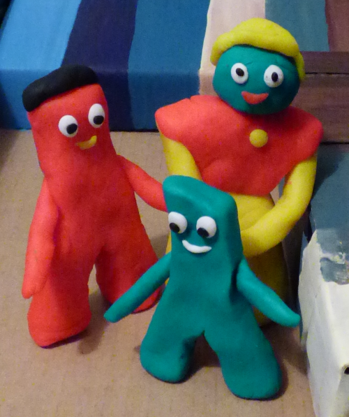 Baby gumby & family
