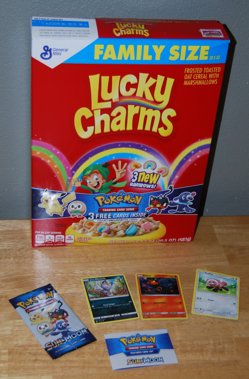 Lucky charms pokemon cards sun & moon
