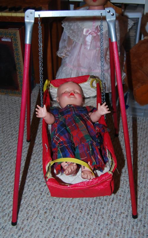 Vintage doll & swing 9