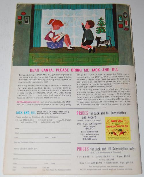 Jack & jill december magazine1962 x