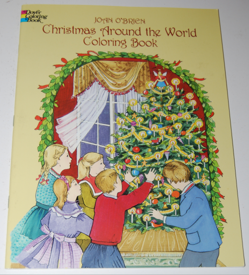 Dover xmas around the world coloring book