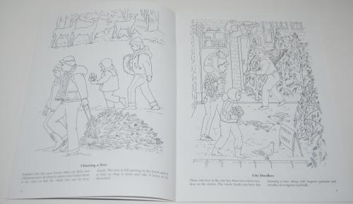 Dover xmas around the world coloring book 3
