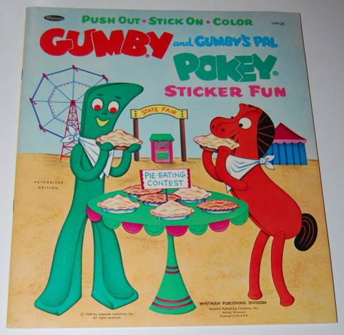 Gumby & pokey sticker fun whitman