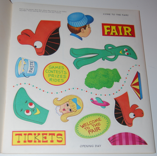 Gumby & pokey sticker fun whitman 2