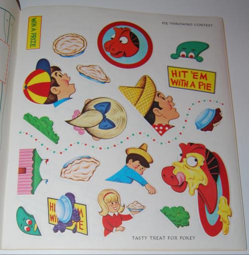 Gumby & pokey sticker fun whitman 6