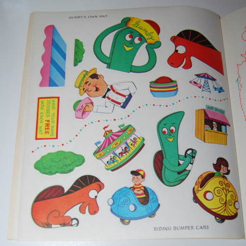 Gumby & pokey sticker fun whitman 8