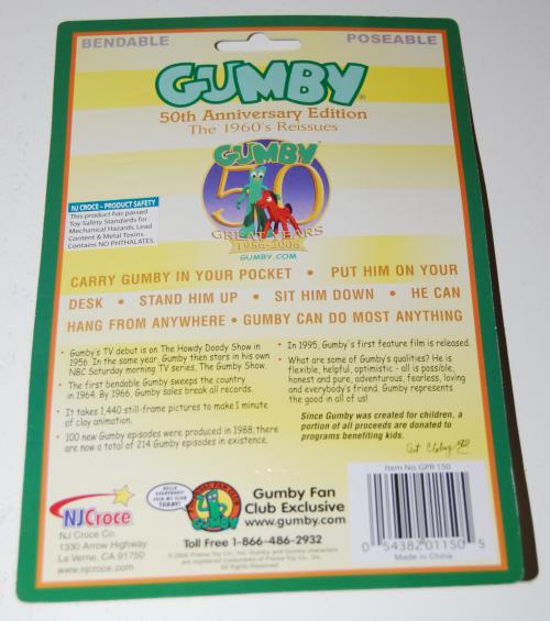 Gumby 60s bendy reissue x