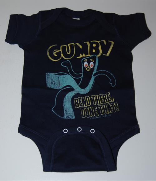 Gumby baby onesie