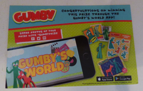 Gumby's world app card