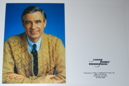 Mr rogers signed photos