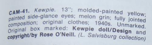 1940 13  composition kewpie x