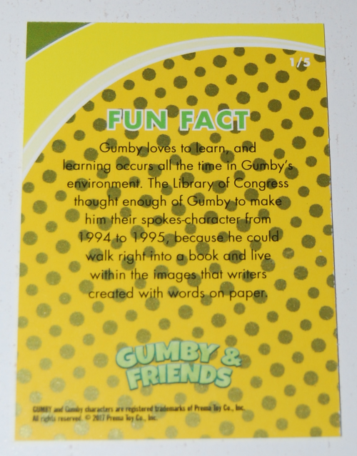 Gumby's world collector card foils 1x
