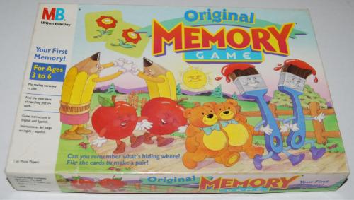 Milton bradley memory game