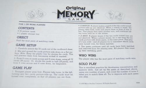 Milton bradley memory game 2