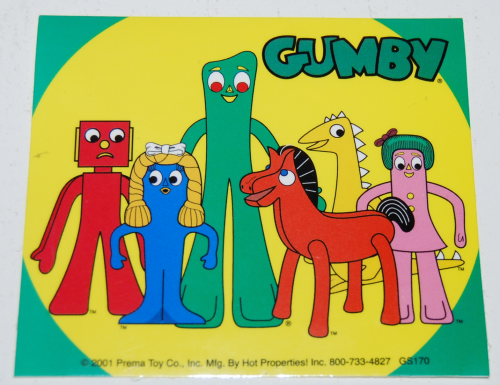 Gumby stickers 2001 3