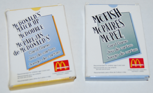 Mcdonald's happy meal card games