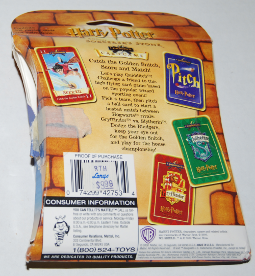 Harry potter quidditch card game x