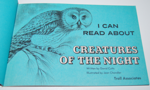 I can read about creatures of the night 1