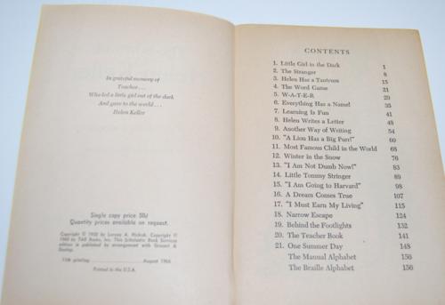 The story of helen keller scholastic book 1966