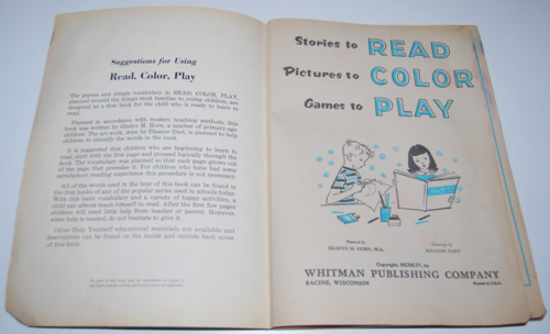 Whitman read color play book 1