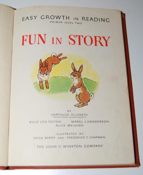 Fun in story vintage reader 1