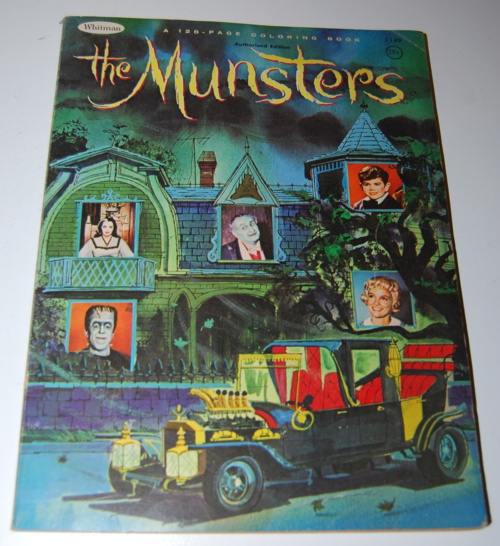 the munsters coloring book - lost & found vintage toys
