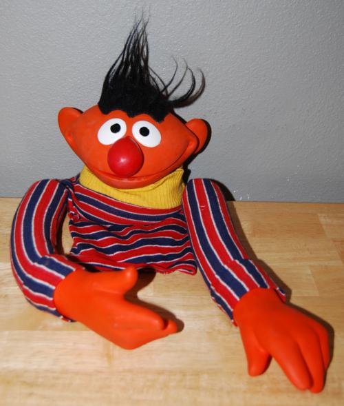 Vintage sesame street puppets ernie