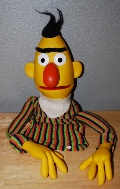 Vintage sesame street puppets bert