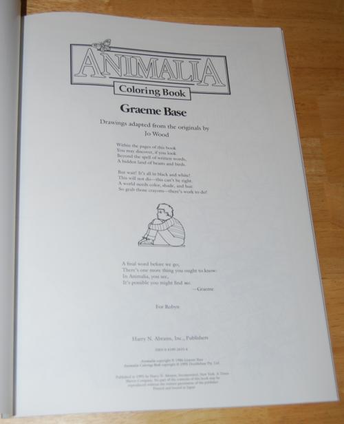 Animalia coloring book 1