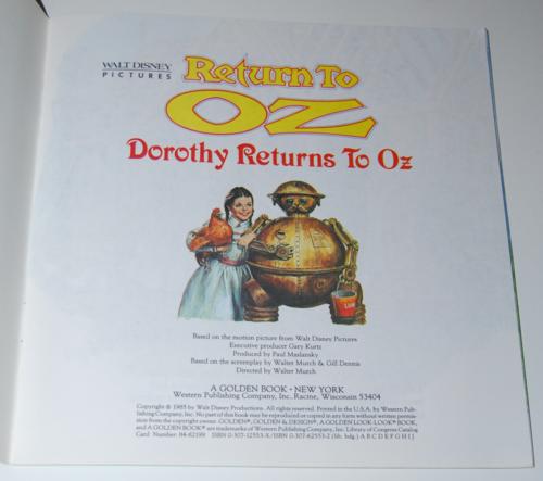 Return to oz book 1